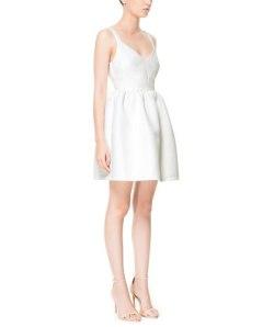 vestito bianco zara